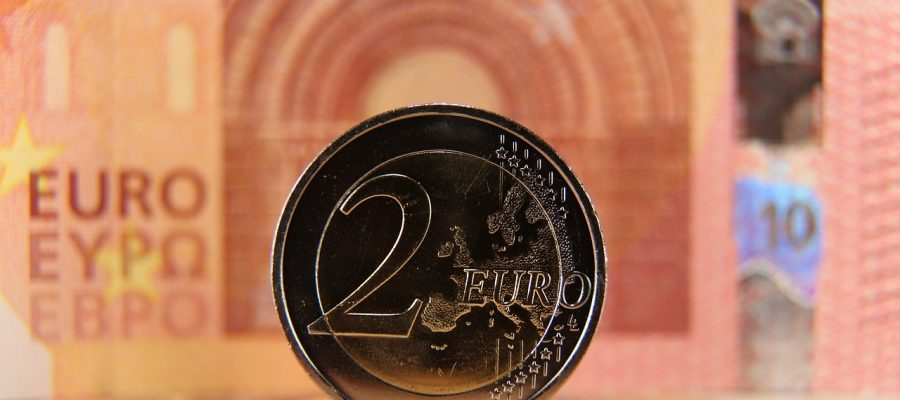 Two Euro Coin Currency Copper